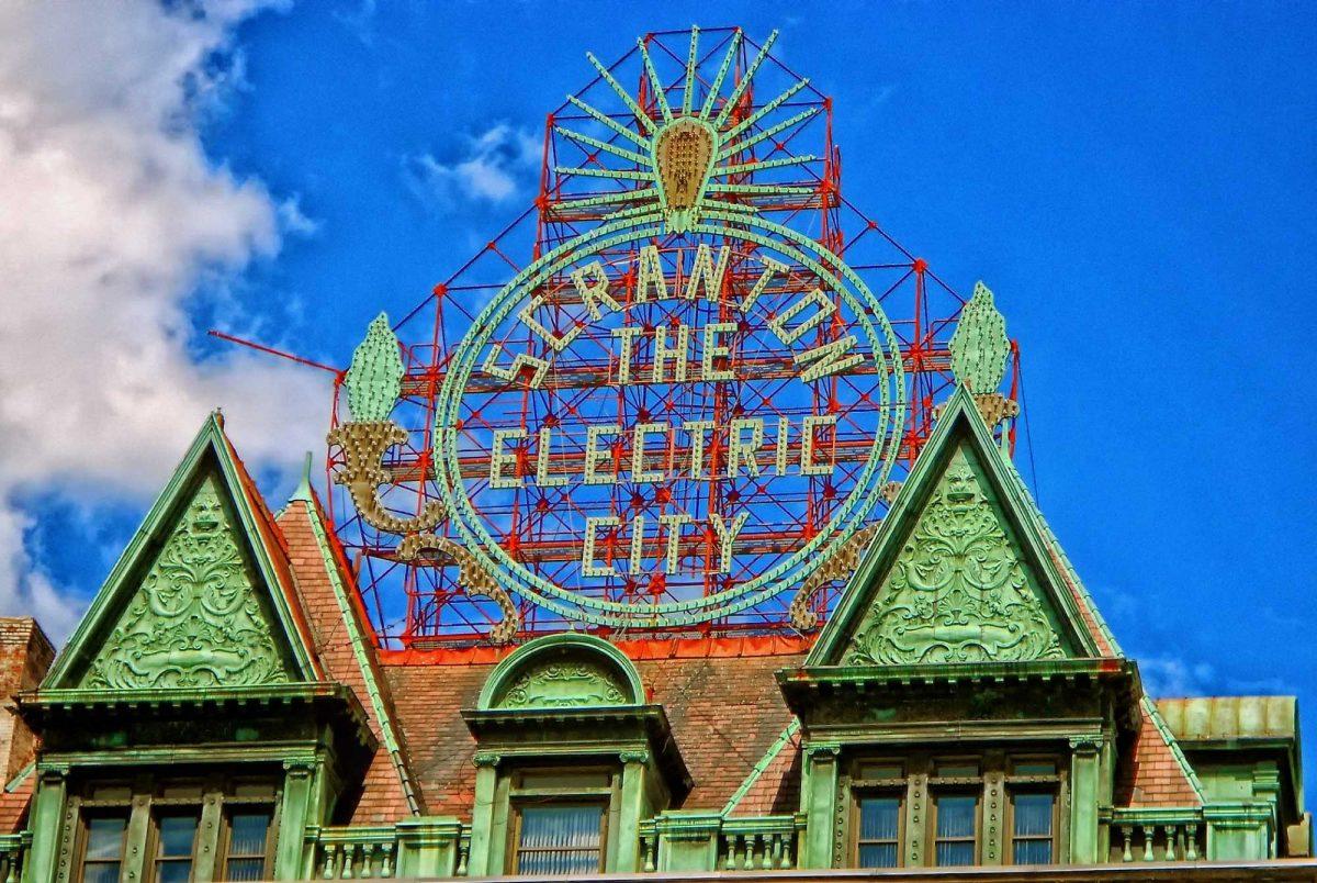 scranton the electric city light-up sign