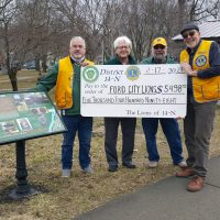 Ford City Lions Club(District 14-N) has recently received a matching project grant for $5498.00 from the Lions of Pennsylvania Foundation to assist with the purchase of up to 12 historical markers along the section of the Rails to Trails path bordering the community of Ford City, Armstrong County